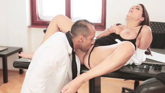Secretary fucked hard in the office